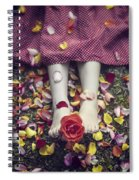 Bedded In Petals Spiral Notebook