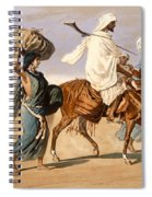 Bedouin Family Travels Across The Desert Spiral Notebook