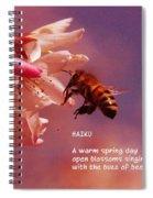 Bee Haiku Spiral Notebook