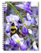 Bee In The Wisteria Spiral Notebook
