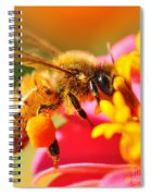 Bee Laden With Pollen 2 By Kaye Menner Spiral Notebook
