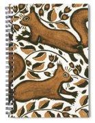 Beechnut Squirrels Spiral Notebook