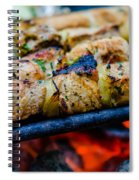 Beef Kababs On The Grill Closeup Spiral Notebook