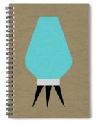 Beehive Lamp Turquoise Spiral Notebook