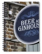 Beer And Ginhouse Spiral Notebook