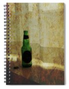 Beer Bottle On Windowsill Spiral Notebook