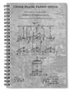 Beer Brewery Patent Charcoal Spiral Notebook