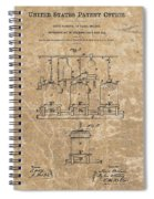 Beer Brewery Patent Illustration Spiral Notebook