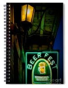 Beer Fest And Lamp Spiral Notebook