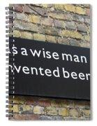 Beer Sign Spiral Notebook