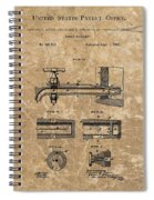 Beer Tap Patent Spiral Notebook