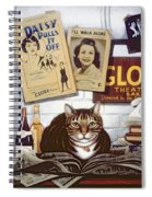 Beerbohm, The Theatre Cat Oil & Tempera On Panel Spiral Notebook
