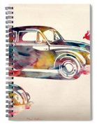 Beetle Car Spiral Notebook