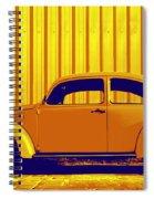 Beetle Pop Gold Spiral Notebook