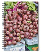 Beets At The Farmers Market Spiral Notebook