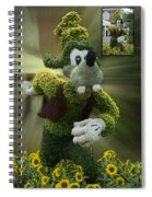 Before And After Sample Art 26 Goofy Spiral Notebook