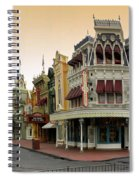 Before The Gates Open Early Morning Magic Kingdom With Castle. Spiral Notebook