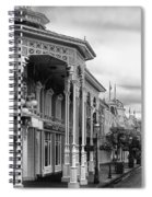 Before The Gates Open In Black And White Walt Disney World Spiral Notebook