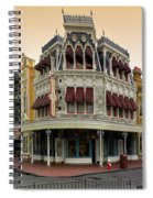 Before The Gates Open Magic Kingdom Main Street. Spiral Notebook