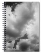 Before The Storm Clouds Stratocumulus 5 Bw  Spiral Notebook