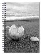 Beginnings Black And White Spiral Notebook