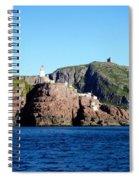 Behind Fort Amherst Rock 2 By Barbara Griffin Spiral Notebook