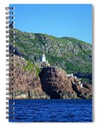 Behind Fort Amherst Rock By Barbara Griffin Spiral Notebook