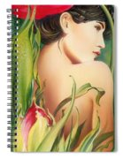 Behind The Curtain Of Colours -the Tulip Spiral Notebook