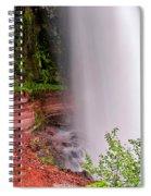 Behind The Falls Spiral Notebook