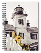 Behind The Lighthouse  Spiral Notebook