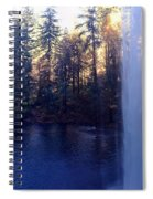 Behind Water Fall  Spiral Notebook