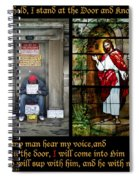 Behold I Stand At The Door And Knock Composite Spiral Notebook