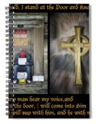 Behold I Stand At The Door Composite Spiral Notebook