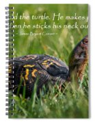 Behold The Turtle Spiral Notebook