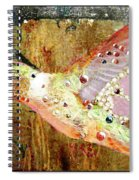 Bejeweled Hummingbird Spiral Notebook