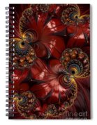 Bejewelled Crimson Spiral Notebook