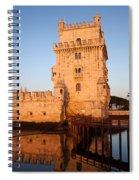 Belem Tower At Sunrise In Lisbon Spiral Notebook