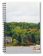 Belfast Maine Harbor Spiral Notebook