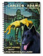 Belgian Shepherd Art Canvas Print - Creature From The Black Lagoon Movie Poster Spiral Notebook