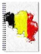 Belgium Painted Flag Map Spiral Notebook