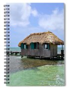 Belize Pier And Seascape Spiral Notebook