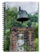 Bell Brick And Statue Spiral Notebook