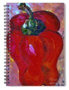 Red Bell Pepper Takes Center Stage Spiral Notebook