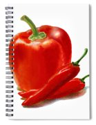 Bell Pepper With Chili Peppers Spiral Notebook