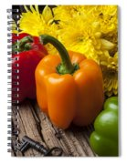 Bell Peppers And Poms Spiral Notebook