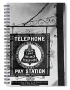Bell Telephone Sign, C1899 Spiral Notebook