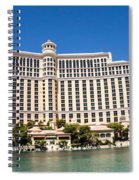 Bellagio Resort And Casino Panoramic Spiral Notebook