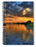 Belle Isle Pier Sunset Detroit Mi Spiral Notebook