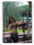 Belly Dancer And Performer At Morocco Pavilion Spiral Notebook