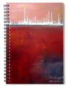 Below Spiral Notebook